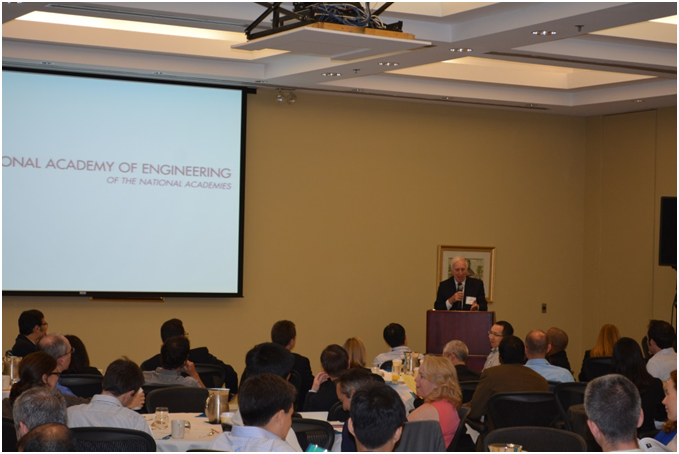 Dr. C. Daniel Mote, President of the National Academy of Engineering, opens the 19th annual U.S. Frontiers of Engineering Symposium, in Wilmington, DE, on September 19, 2013.
