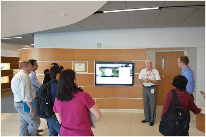 Harvey Wishkoff of DuPont FS&RE provided tours of the Chestnut Run Plaza Renaissance Project buildings (CRP 730 and 735) to the U.S. NAE FOE participants.