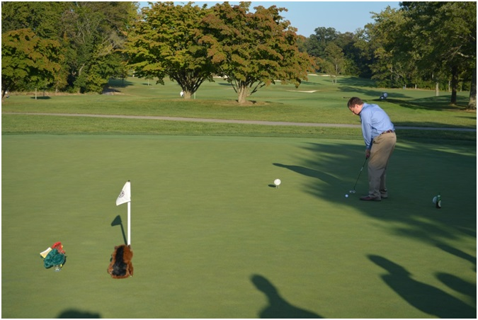 NAE FOE participants had the chance to win prizes for sinking a hole-in-one at the DuPont Country Club during Friday evening's social activities.